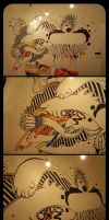 Colored Mural - unfinished by Rodier