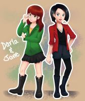 Daria and Jane by NivyIcecool