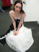 Black.White dress by 3corpses-in-A-casket