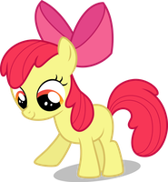 VIP -- Apple Bloom, Pokin at a Thing on the Ground by Drewdini