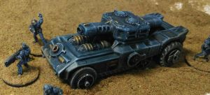 15mm Human Planetary Marines 'Longhorn' class AFV by Spielorjh