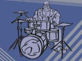 Drummer Panthro WIP by ReaperClamp