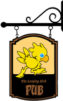 Pub Signage - The Leaping Chocobo by Grimklok