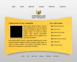 Free web template by emperorwarion