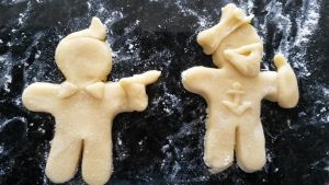 Tintin cookies: Tintin and Haddock by SpipLOVEr