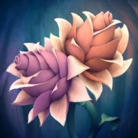 Iridescent Flowers by hyetou