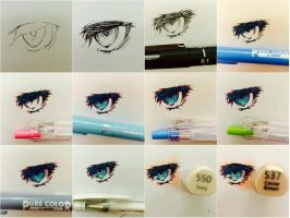 How I Draw Eyes: TUTORIAL by Katlynchan