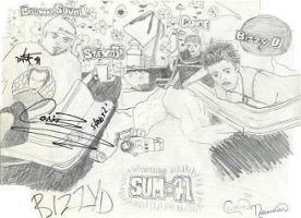 First drawing of sum41 by paintitblack