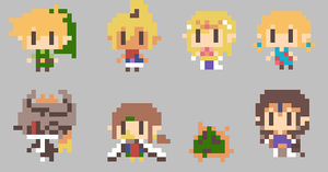 TLOZ:Chibis Wallpaper by Pokefriend2010