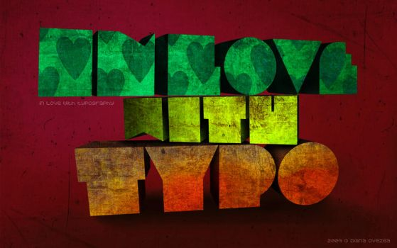 in love with typography by living2prove