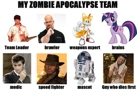 My Zombie Apocalypse Team by sonamy-666