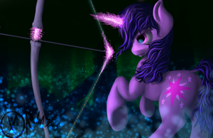 Arrow in the Twilight by xormak