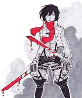 The Infamous Mikasa Ackerman by Jazzie560