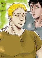 Reiner and Bertholdt by AkariMarco