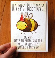Bee card by michellescribbles