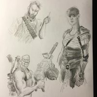 Mad Max sketches by Thuydutran