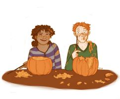 Pumpkin Caving by ThroughMyThoughts