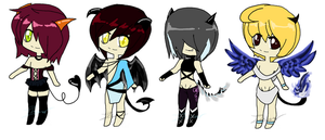 Chibi Demon Adopts.:CLOSED:. by itsmar-Adopts