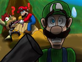 Super Mario Insanity: A Shadow Figure by AtomicPhoton
