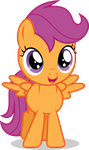 Mlp Fim Filly Scootloo (happy) Vector by luckreza8
