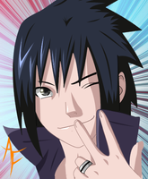 Sasuke - colored by Ahrifox