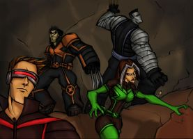 AMAZING X-MEN:In cave ADVENTURE by Sabrerine911
