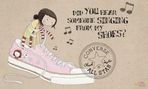 singing converse by deWhin