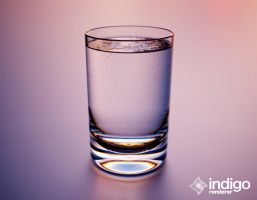 Indigo, Water glass fizz. by sentimentalfreak