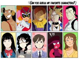 Can you guess my favorite characters? by MooseFroos