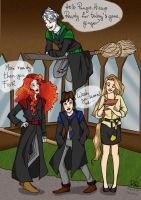 Princesses, Vikings and Guardians at Hogwarts by red--ro-se