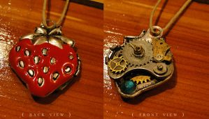 strawberry fields - locket by TheClockworkCrow