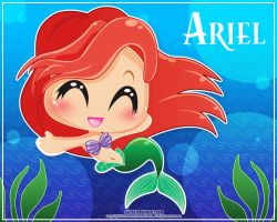Ariel: Give me a hug-wallpaper by Cukismo