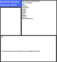 Beyblad Roleplay Character Sheet by tifafenrir09
