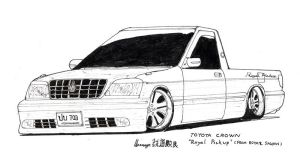 Toyota Crown Royal Pickup by ngarage