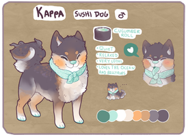 Espressocafe Custom Sushi Dog By Witchpaws by cattuccino