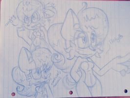 Sally Sketches-scraps by ElectricLoba