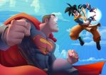 Superman vs Gokuh 2.0 by EduHerrera