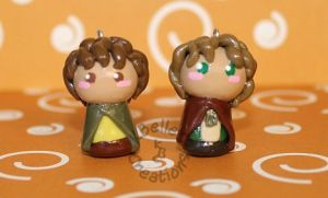 Chibis Merry and Pippin by KBelleC