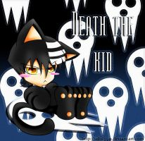Death the Kid chibi kitty by idolnya