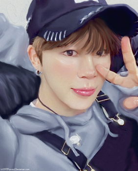 Jimin in Overalls by posund