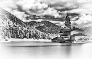 Alpine Lakeside. by Elmik5