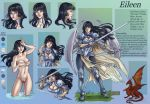 Commission 47 Eileen- character sheet by LadyDeddelit