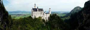 Neuschwanstein Panorama 2 by LunaFeles