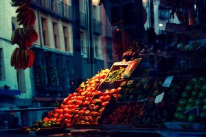 Market in Madrid by Ilman-Lintu