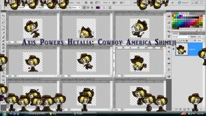 Axis Powers Hetalia: Cowboy America Shimeji DL by TionneDawnstar