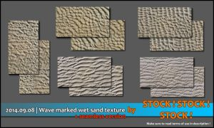 2014.09.07 | Wave marked wet sand texture pack by Stock-Stock-Stock