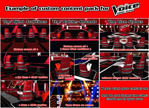 [MMD] THE VOICE - Custom Pack Exemple by moulinneufbeast