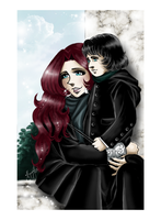 Emily and Septimus Snape by RedPassion