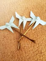 origami butterfly hair pin (blue) by yuyinfeng