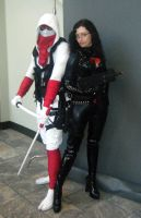 Baroness and Stormshadow by Scream01